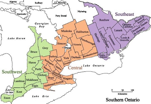 Ontario Counties Map Map Of Ontario Counties | compressportnederland Ontario Counties Map