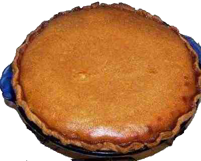 Homemade pumpkin pie, from a fresh pumpkin
