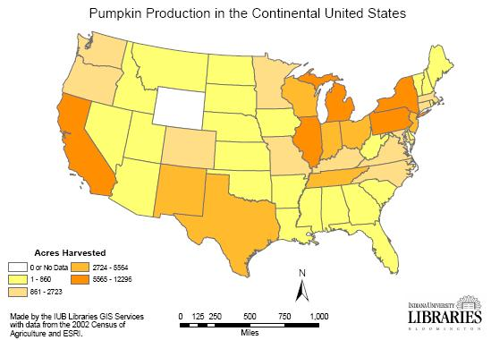 Pumpkin Production Facts Trends And Resources - Map of corn production in us